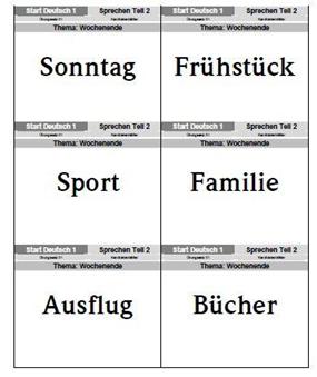 картинка Задание №2 комплекта примеров экзаменационных заданий Start Deutsch 1 по части Говорение