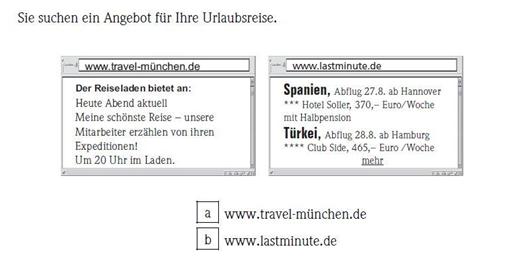 картинка Задание №2 комплекта упражнений Start Deutsch 1 по части Чтение