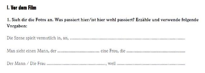 картинка задание 1 учим интересный немецкий по фильму