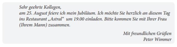 Пример письма Start Deutsch  с официальным приглашением: