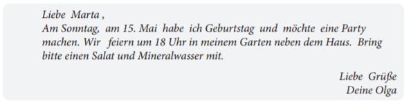 письма для старт дойч а1 Start Deutsch A1 экзамен по немецкому языку
